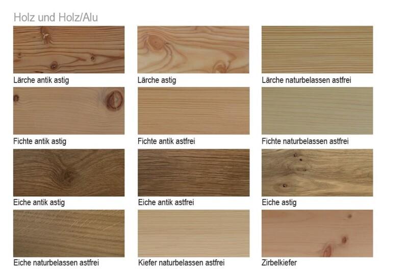 Deco - Holz und Holz-Alu